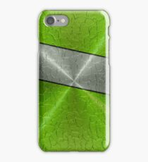 Green and Silver Stainless Shiny Steel Metal iPhone Case/Skin