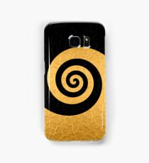 Gold and Black Stainless Shiny Steel Metal Swirl Pattern Samsung Galaxy Case/Skin