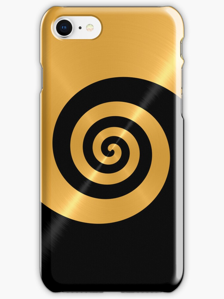 Gold and Black Shiny Stainless Steel Metal Swirl Pattern by Nhan Ngo