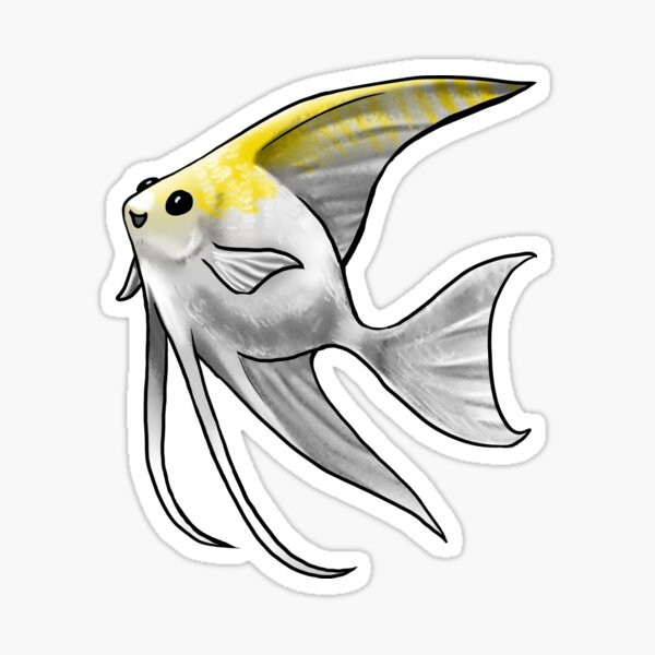 Gold Pearl Scale Angelfish Sticker
