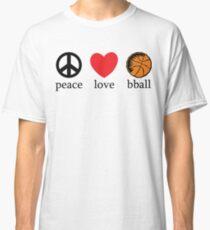 Peace Love Basketball Classic T-Shirt