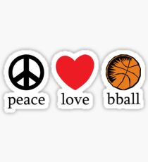 Peace Love Basketball Sticker