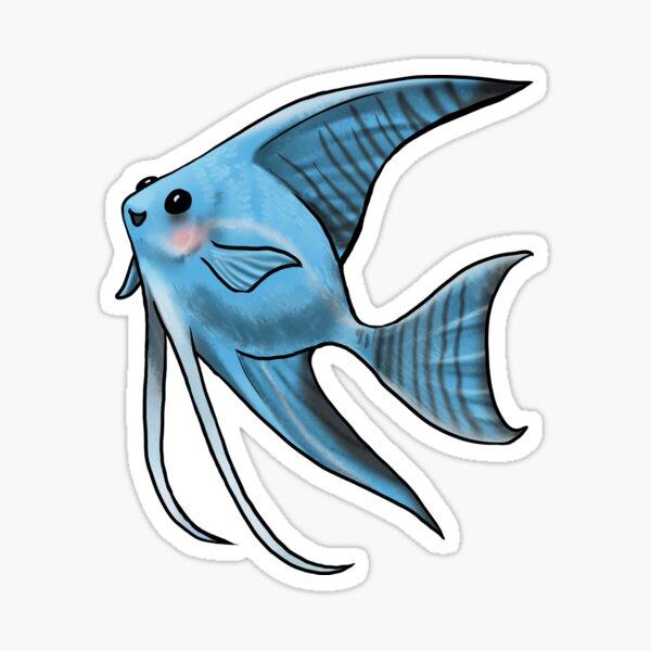Blue Blushing Angelfish Sticker