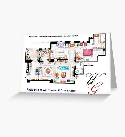 Apartment of Will Truman and Grace Adler Greeting Card