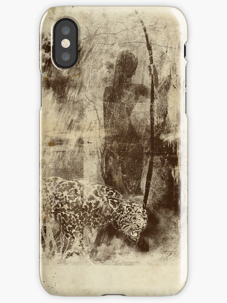 paleo warrior - iphone cover by frederic levy-hadida