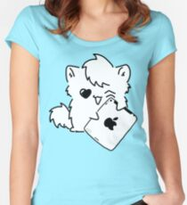 Kitty Loves iDevices! (shirt) Women's Fitted Scoop T-Shirt