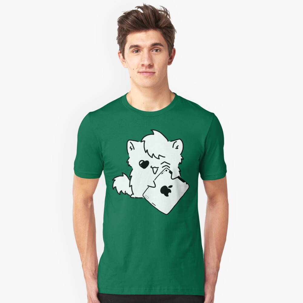 Kitty Loves iDevices! (shirt) Unisex T-Shirt Front