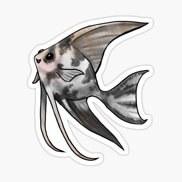 Marbled Angelfish Sticker