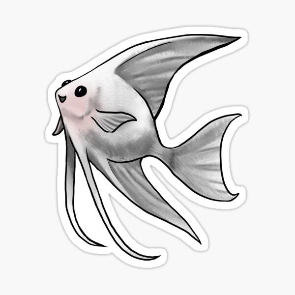 Platinum Blushing Angelfish Sticker