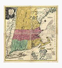 Old Map of New England (1777) Photographic Print