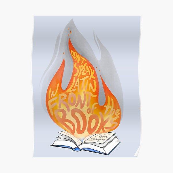 «Librum incendere» et attendez - «[livre en feu]« Xander Poster