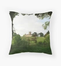 Rolling hills towards Downton Abbey Throw Pillow