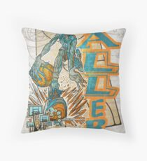 Baller Basketball Hoops Player Throw Pillow