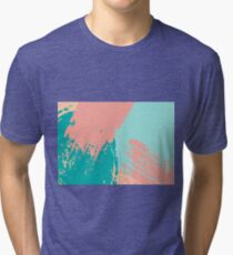 Pastel Colored Abstract Brush Strokes Tri-blend T-Shirt