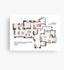 Apartments of Will Truman, Grace Adler and Jack MacFarland Metal Print