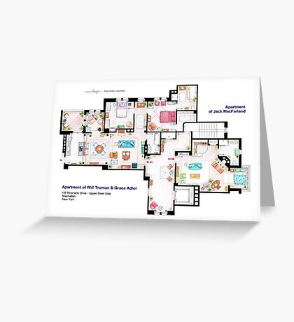 Apartments of Will Truman, Grace Adler and Jack MacFarland Greeting Card