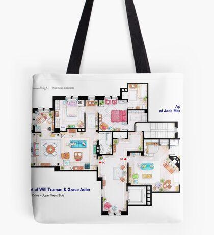 Apartments of Will Truman, Grace Adler and Jack MacFarland Tote Bag