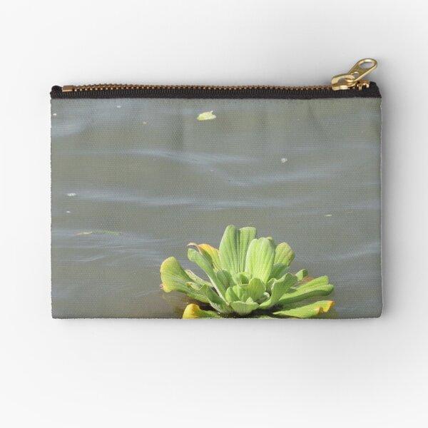 Water Lotus Flower Zipper Pouch
