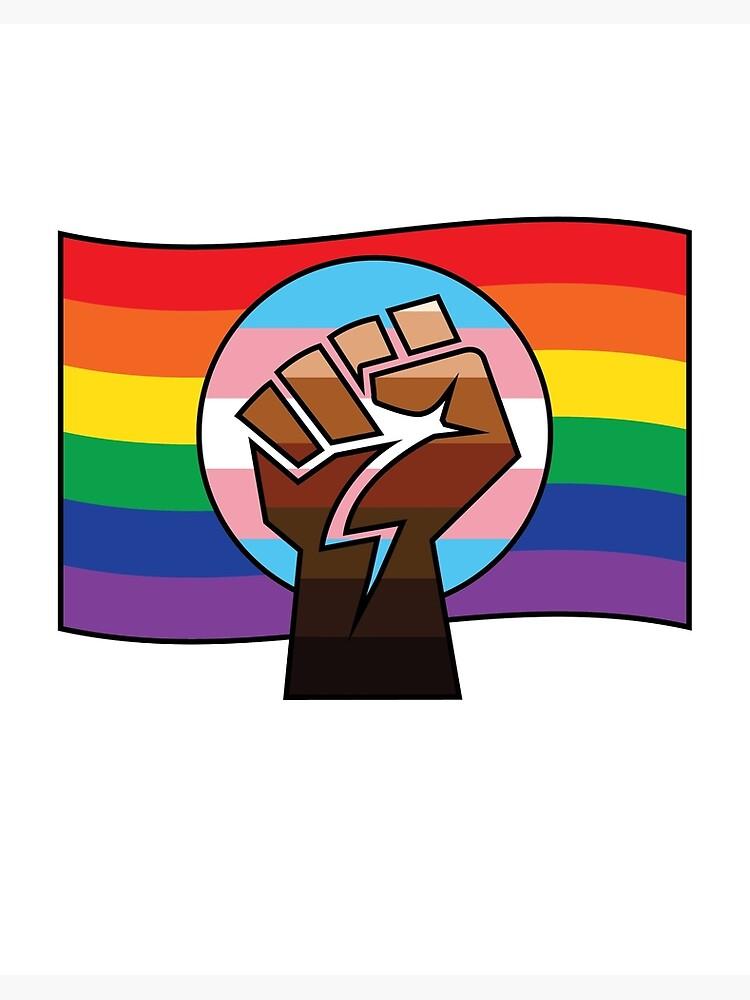 Blm X Trans X Pride Flag Art Board Print By Freeloveapparel Redbubble
