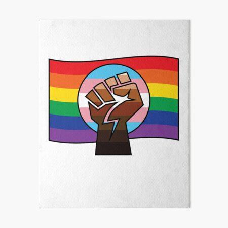 Bandera BLM x Trans x Orgullo Lámina rígida