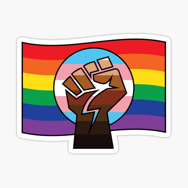 BLM x Trans x Pride Flag Sticker