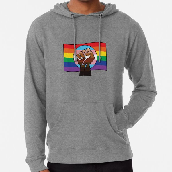 BLM x Trans x Pride Flag Lightweight Hoodie