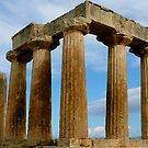 Temple at Corinth by Dimple Dhabalia - Roots in the Clouds