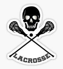 Skull and Lacrosse Sticks  Sticker