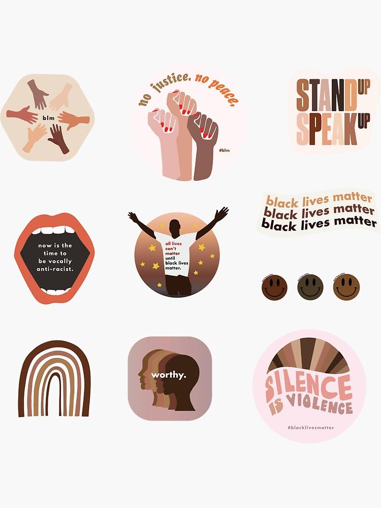 ILLUSTRATED [Black Lives Matter] Sticker Set by janeandjoy
