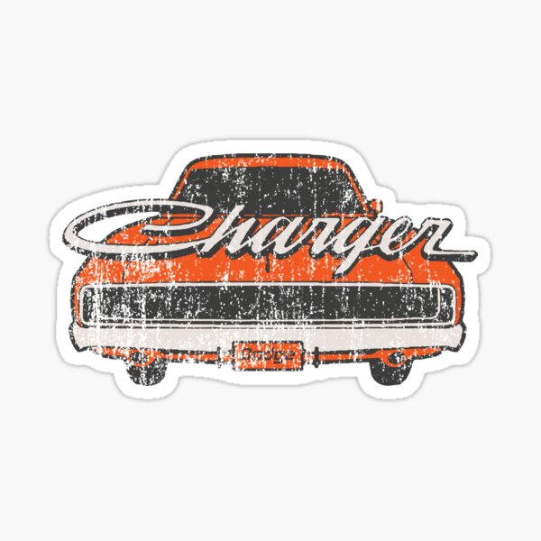 Distressed Charger Sticker