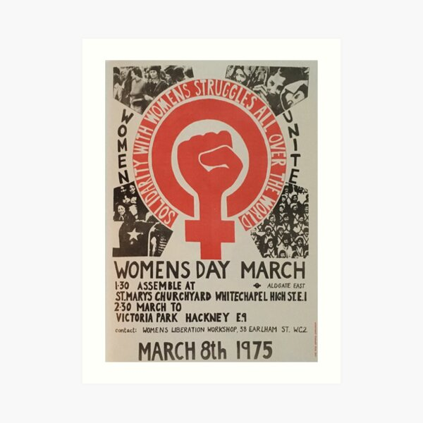 Women's March 1975 Art Print