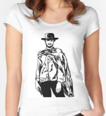 Clint Eastwood Sketch Women's Fitted Scoop T-Shirt