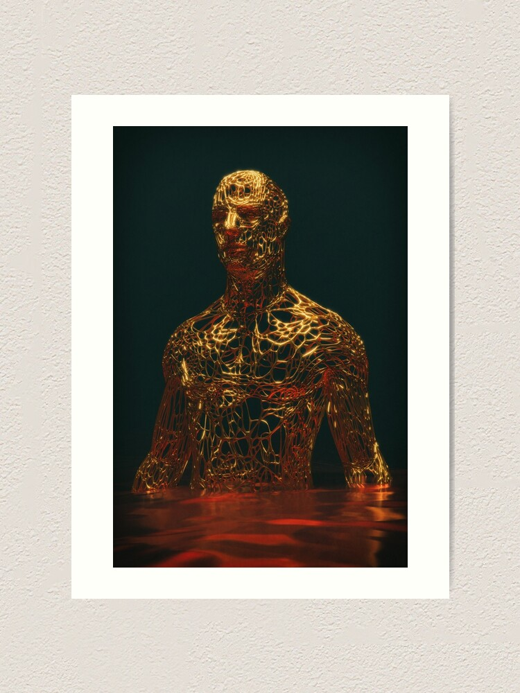 Alternate view of GOLD MAN Art Print