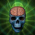 Happy Skull Brain  by Marvin Hayes
