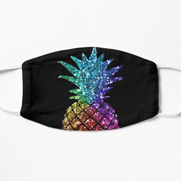 Rainbow Glitter Pineapple - Glitter Pineapple  Flat Mask