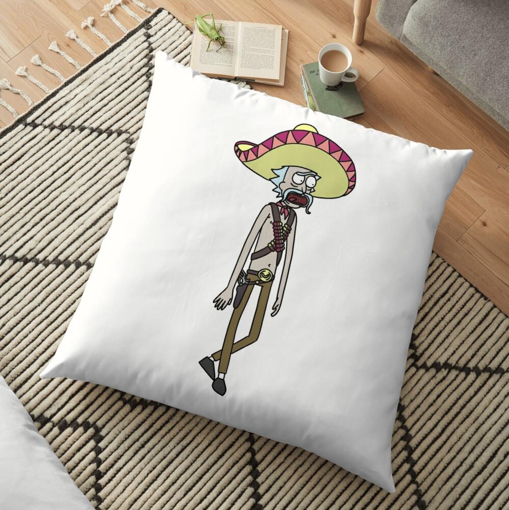 Mexican Rick Sanchez Sombrero Mustache | Rick and Morty character Floor Pillow