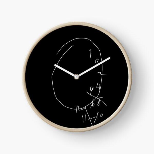 Will Graham encephalitis clock with inverted colors as drawn by Hugh Dancy - Hannibal fandom Clock