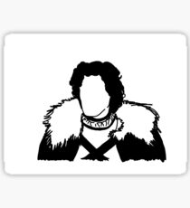 Jon Snow Line Art Sticker