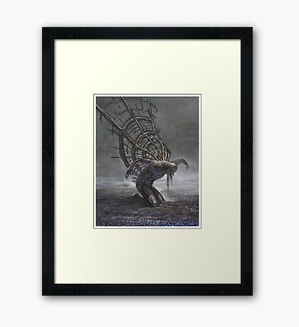 Learning to fly Framed Print