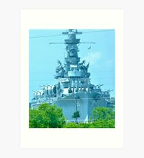Battleship ALABAMA Art Print