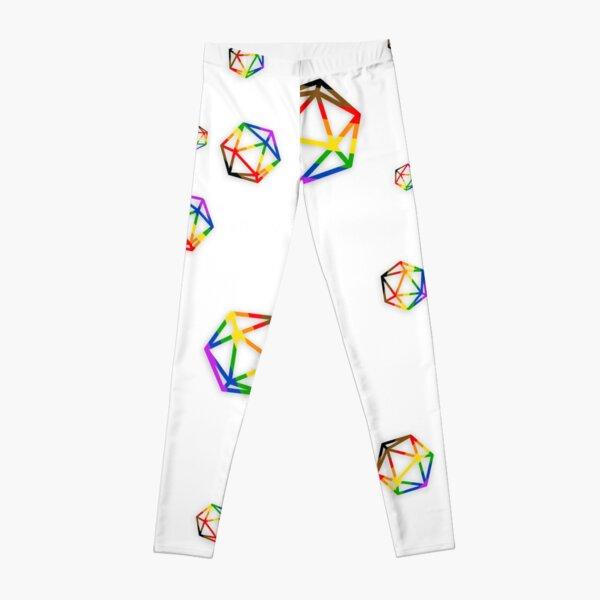 rainbow dice Leggings