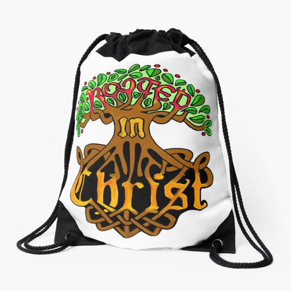 Rooted in Christ Drawstring Bag