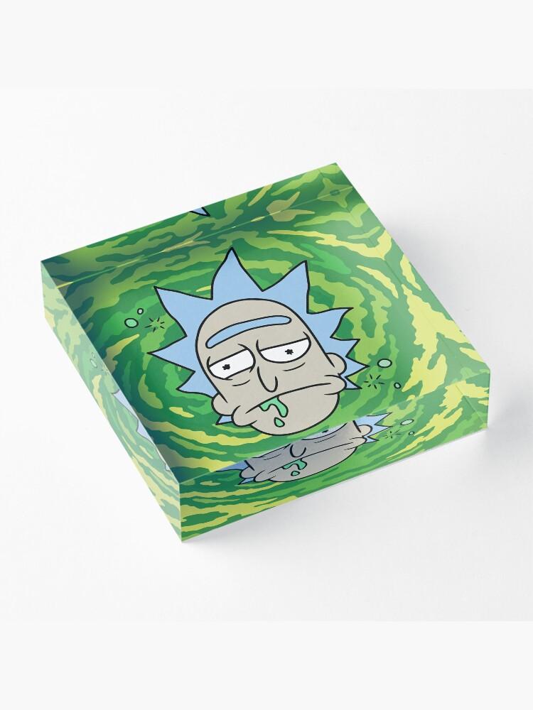 Alternate view of Sick Rick Acrylic Block
