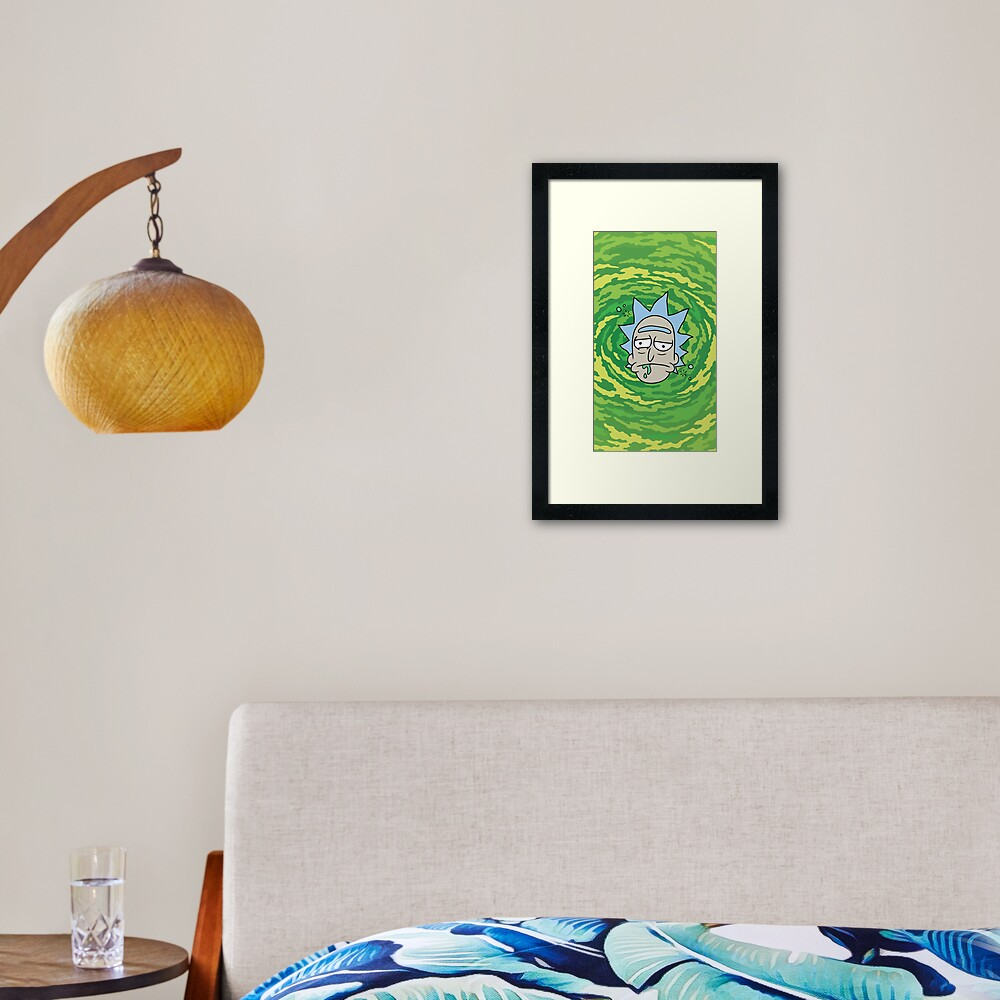 Sick Rick Framed Art Print