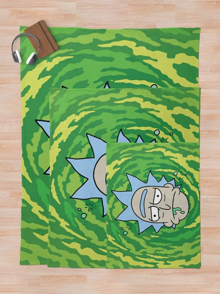 Alternate view of Sick Rick Throw Blanket