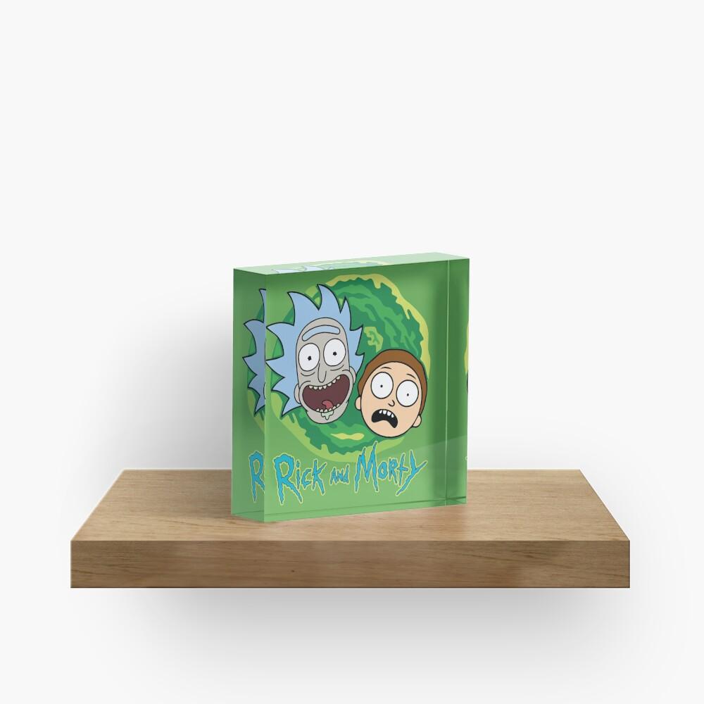 Rick and Morty Portal Acrylic Block