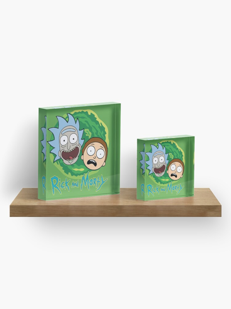 Alternate view of Rick and Morty Portal Acrylic Block