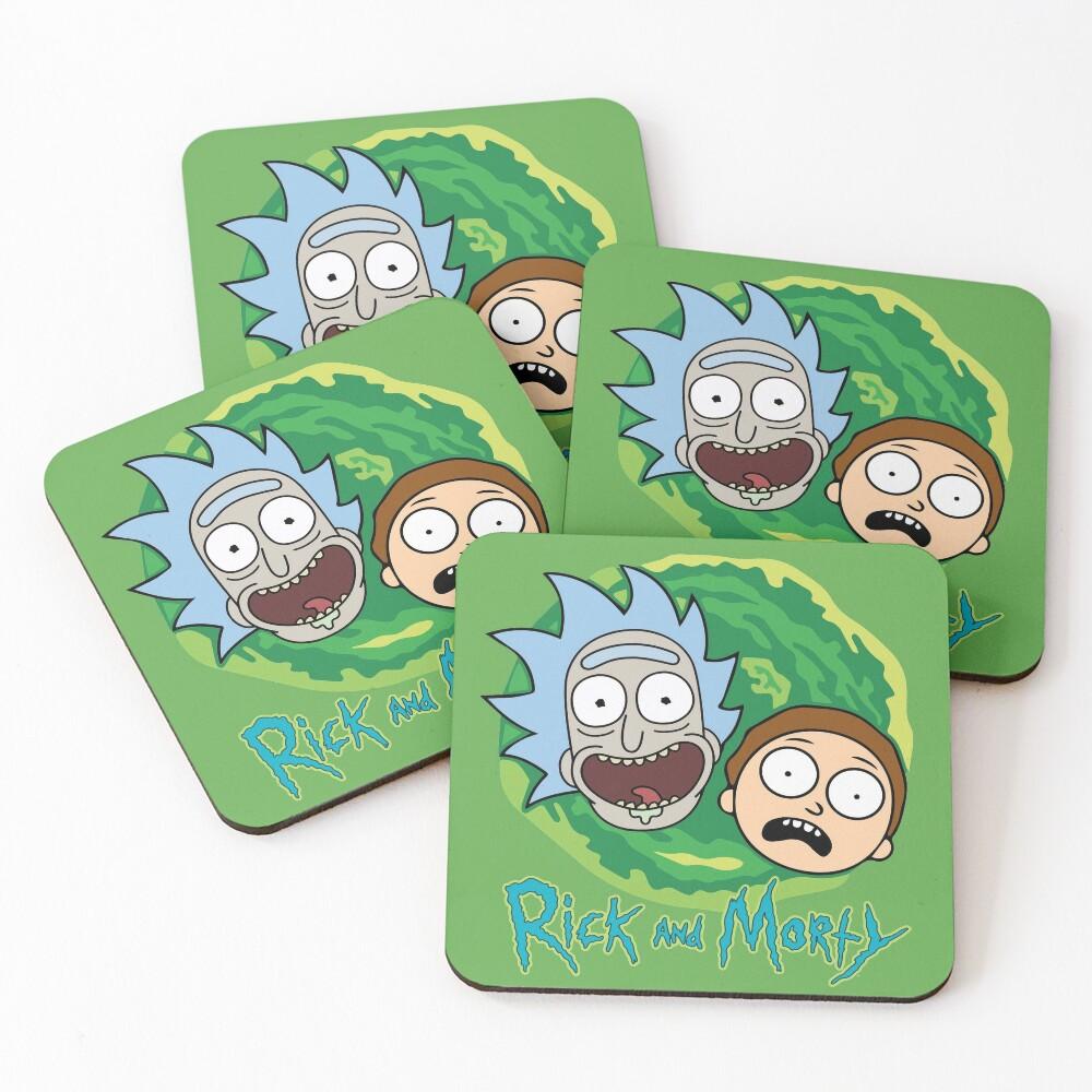 Rick and Morty Portal Coasters (Set of 4)