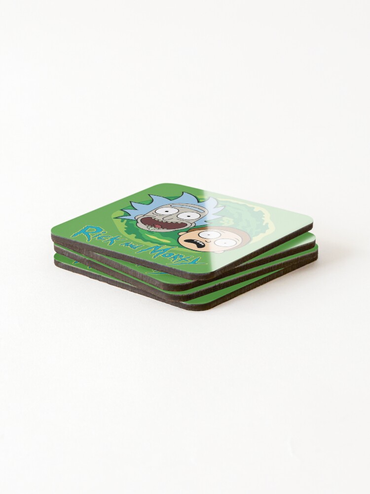 Alternate view of Rick and Morty Portal Coasters (Set of 4)