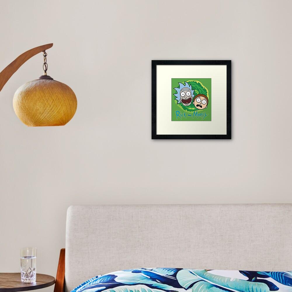 Rick and Morty Portal Framed Art Print